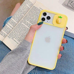 3D Fruit Camera Slide iPhone Case