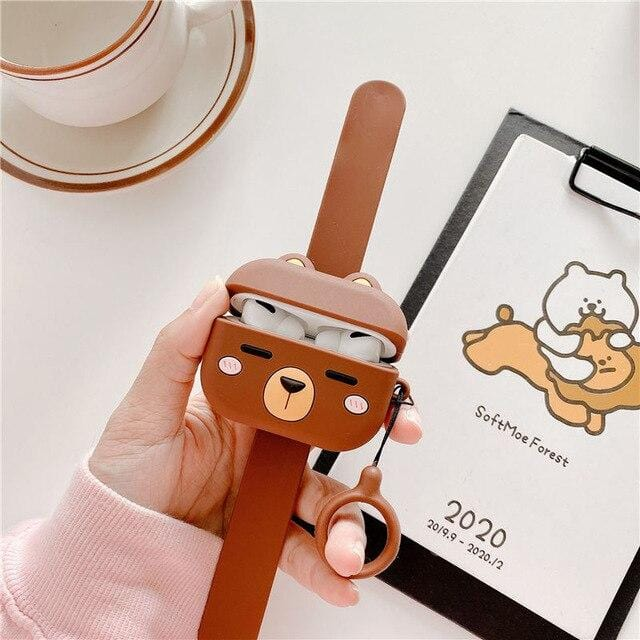Cute Animals Wristband AirPods Case