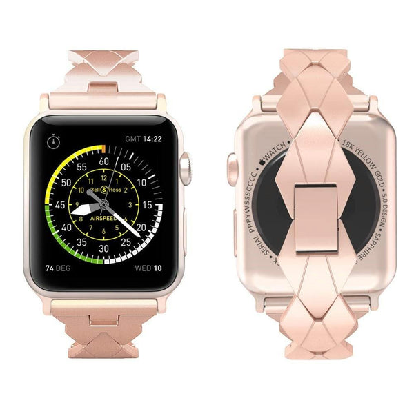 Rhombic Metal Bracelet Apple Watch Bands
