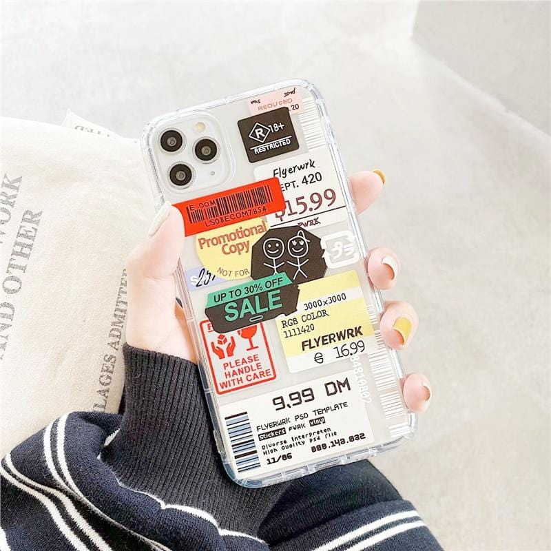Fashion Retro Label iPhone Case