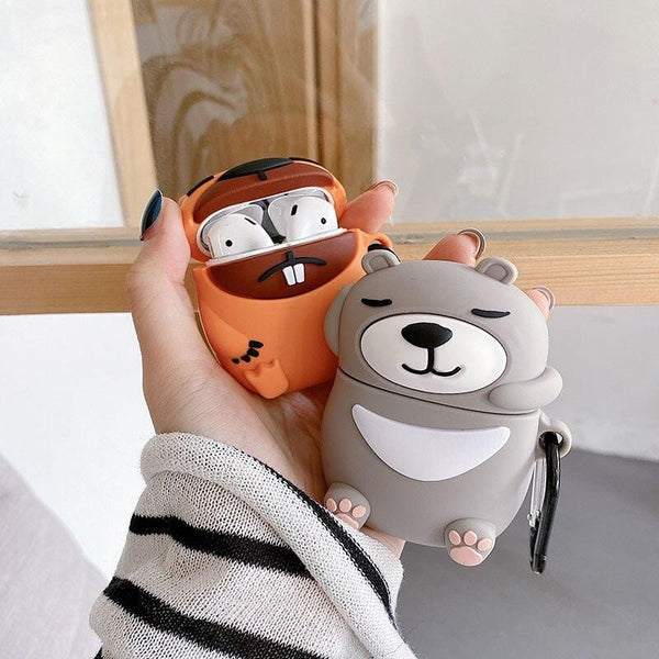 Cartoon Animal Groundhog AirPods Case