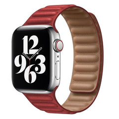 Leather Link Apple Watch Bands