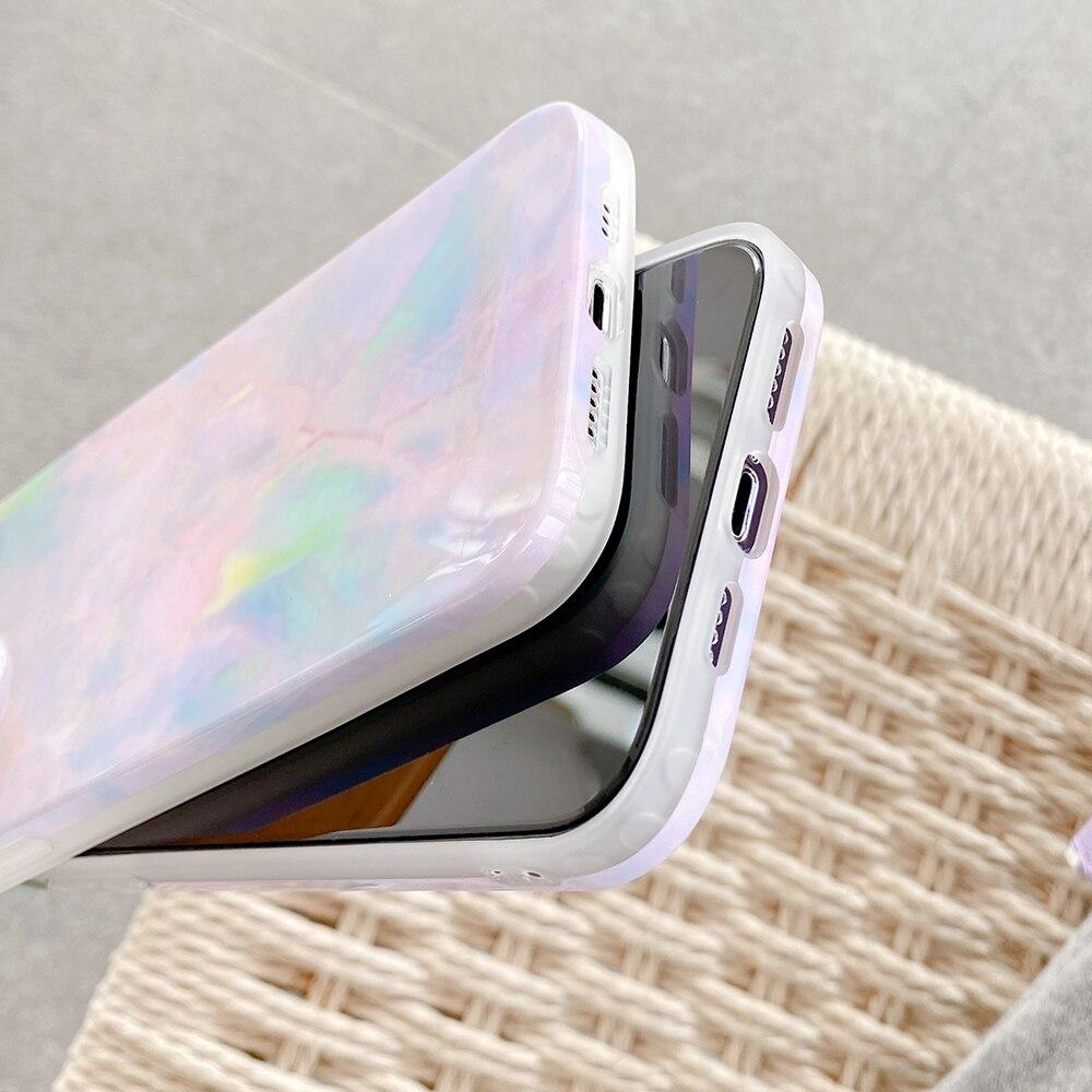 Colorful Gradient Marble iPhone Case