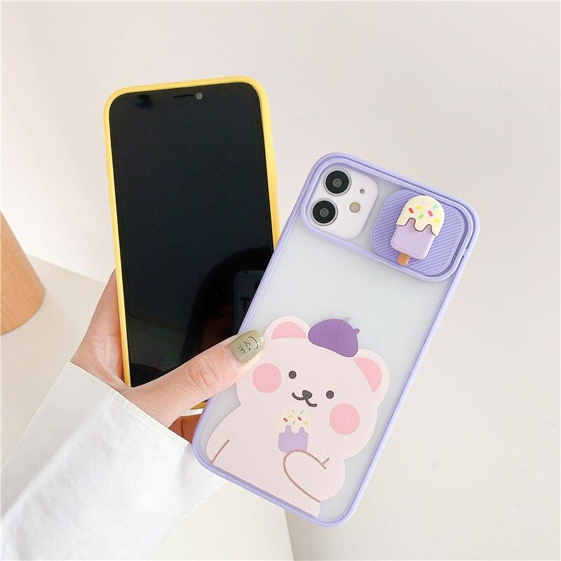 Cute Bear Ice Candy iPhone Case