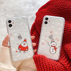 Christmas Santa Snowman iPhone Case