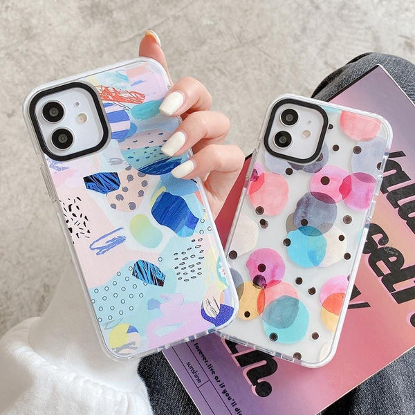 Colorful Graffiti Heart iPhone Case