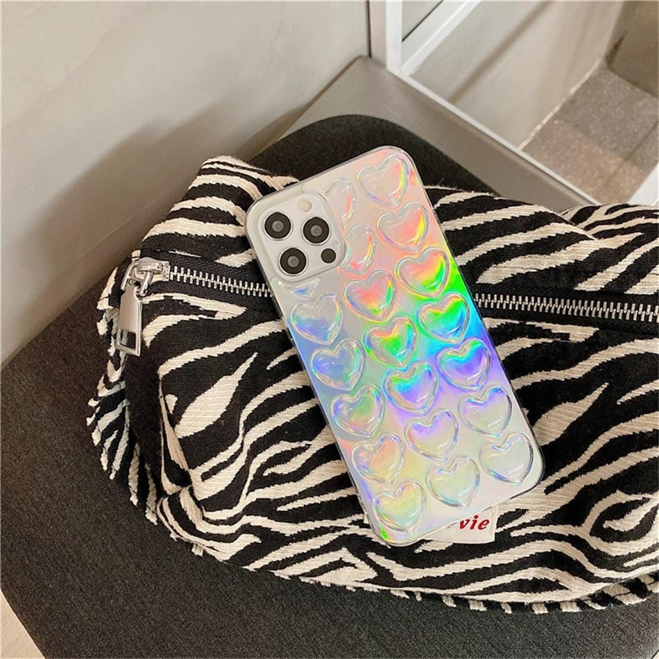 Laser Love Heart iPhone Case