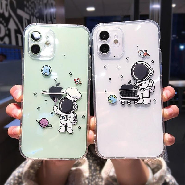 Cute Cartoon Astronaut Shockproof iPhone Case