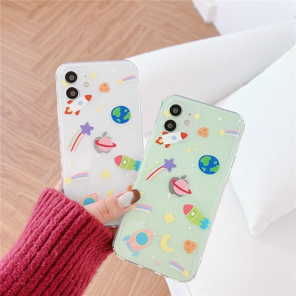 Colorful Planet Space iPhone Case