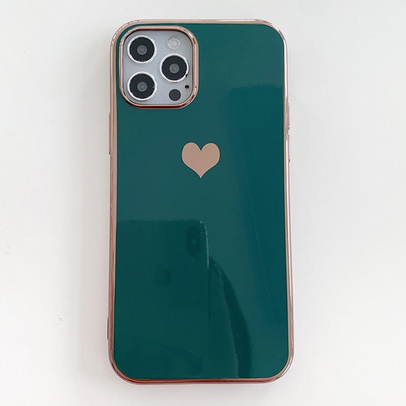 Electroplated Love Heart iPhone Case