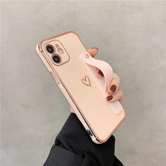 Wrist Strap Electroplated Bumper iPhone Case