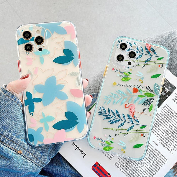 Leaves & Flamingo iPhone Case