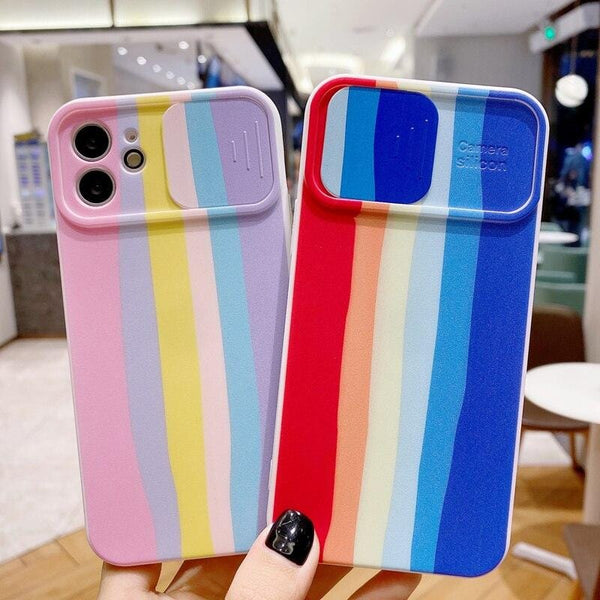 Rainbow Camera Lens Protection iPhone Case