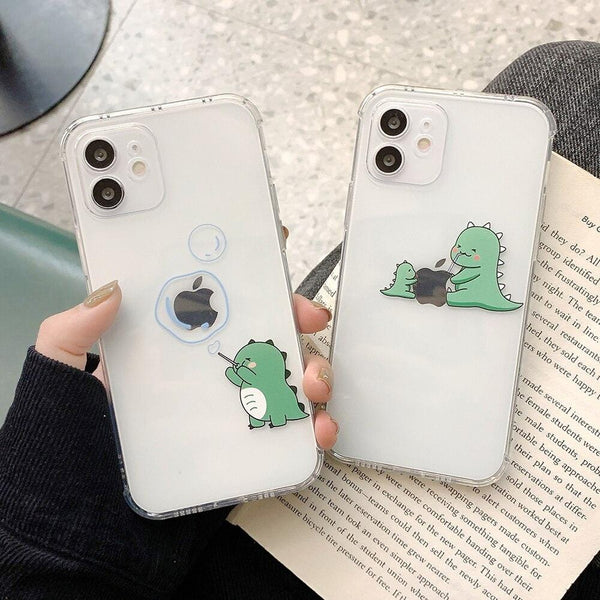 Cute Cartoon Green Dinosaur iPhone Case