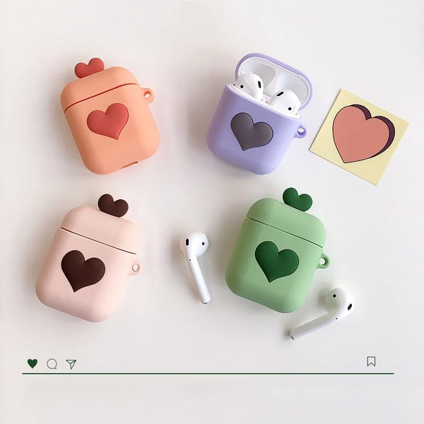 Cute Love Heart Airpods Case