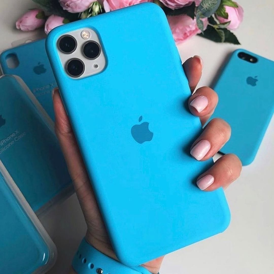 iPhone Silicone Case (Surf Blue)