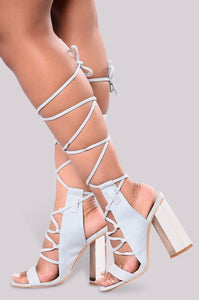 Summer Heel - Light Blue - Shoe Love True Love