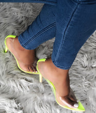 Load image into Gallery viewer, Glow Up Pump - Neon Yellow - Shoe Love True Love