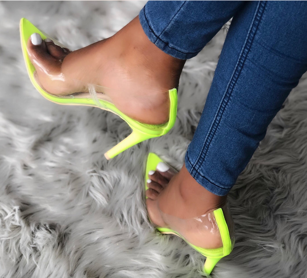 Glow Up Pump - Neon Yellow - Shoe Love True Love