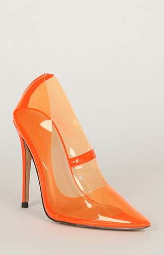 Highlighter Pump - Neon Orange - Shoe Love True Love