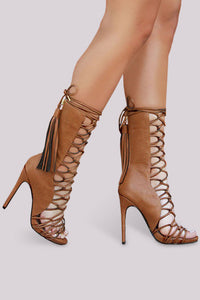 Nelly Bernal Paris Heel - Cognac - Shoe Love True Love