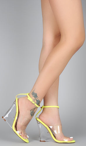 Never Slippin' Wedge Heel - Neon Yellow - Shoe Love True Love