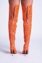Load image into Gallery viewer, Venom Thigh High Boot - Orange - Shoe Love True Love