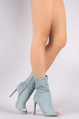 Stepping Out Bootie - Light Blue - Shoe Love True Love