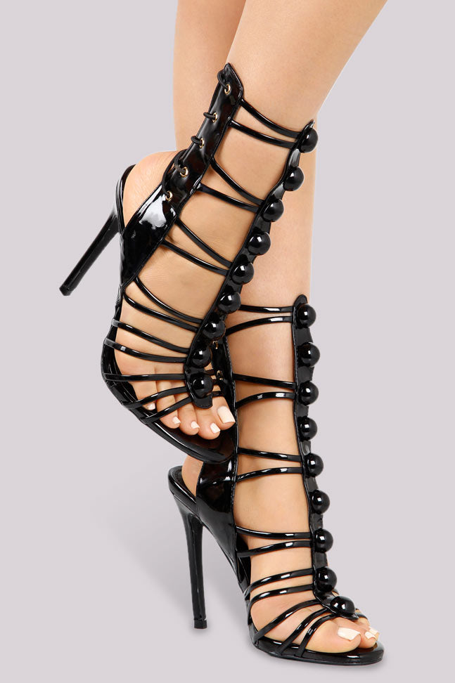 Strapped  Up Heel - Black - Shoe Love True Love