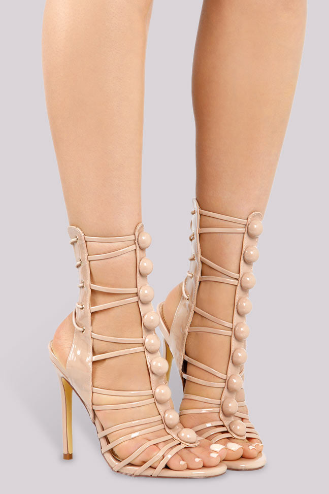 Strapped Up Heel - Nude - Shoe Love True Love
