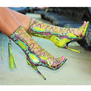 Nelly Bernal Paris Heel - Green - Shoe Love True Love