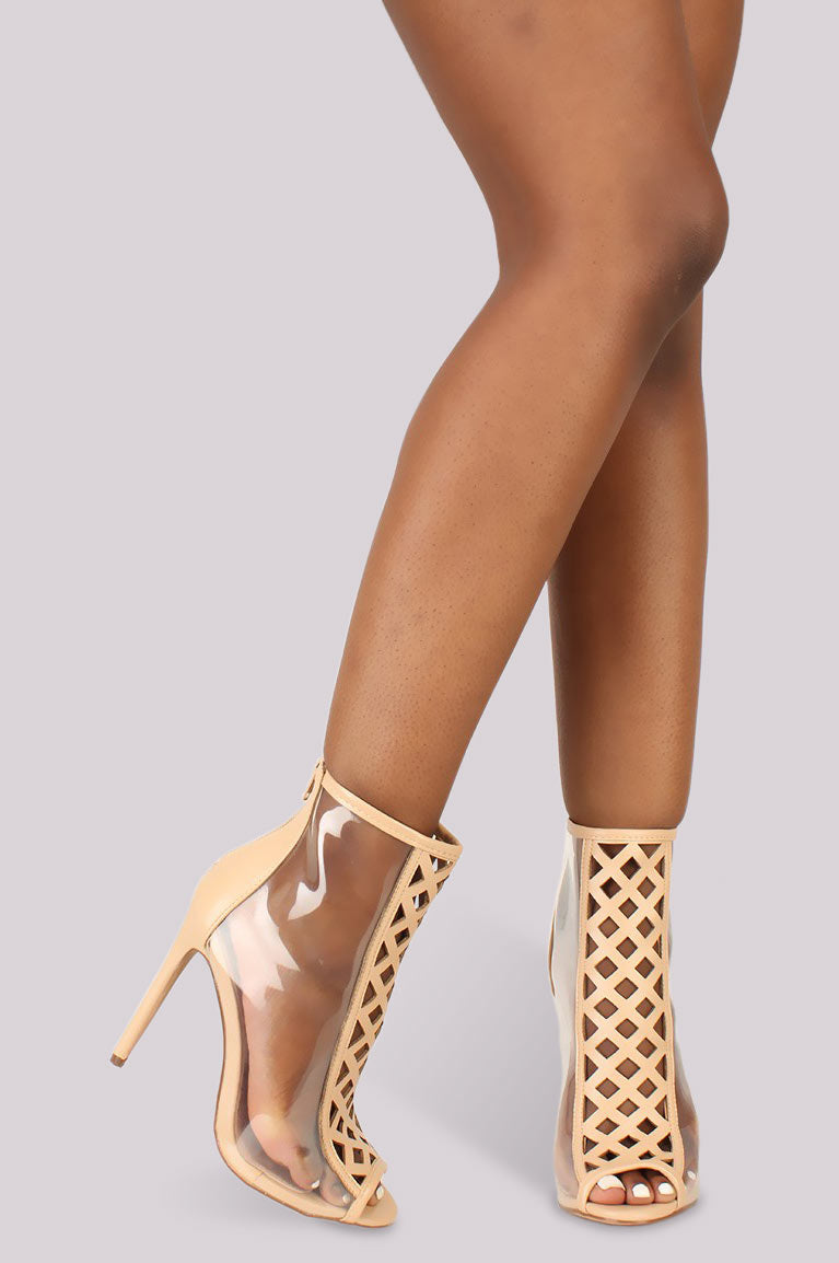 Clear Intentions Bootie - Nude - Shoe Love True Love