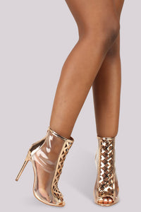 Clear Intentions Bootie - Rose Gold - Shoe Love True Love