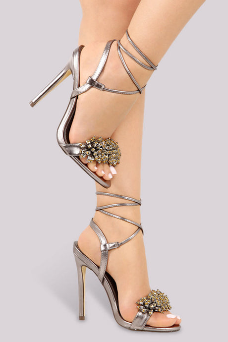 Posh Party Heel - Silver - Shoe Love True Love