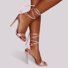 Load image into Gallery viewer, Braided Beauty Heel - Pink - Shoe Love True Love