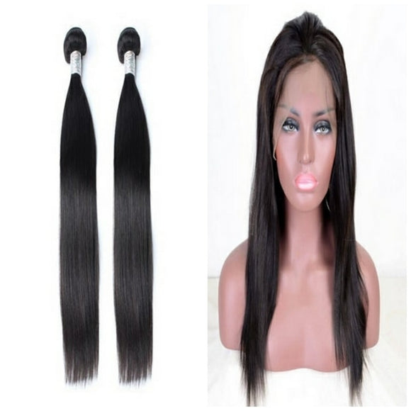 lot de 2 tissage bresilien lisse 360 lace frontal black silky straight naylisshairparis-min