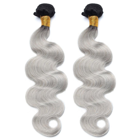 lot de 2 tissage bresilien ondule gris 1b body wave hair naylisshairparis bundle