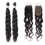 lot de 2 tissage bresilien ondulé lace closure black natural wave naylisshairparis