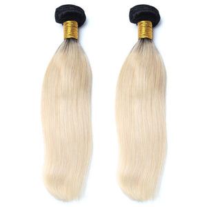 lot de 2 tissages bresiliens lisses 1b blonde 613 silky straight hair naylisshairparis