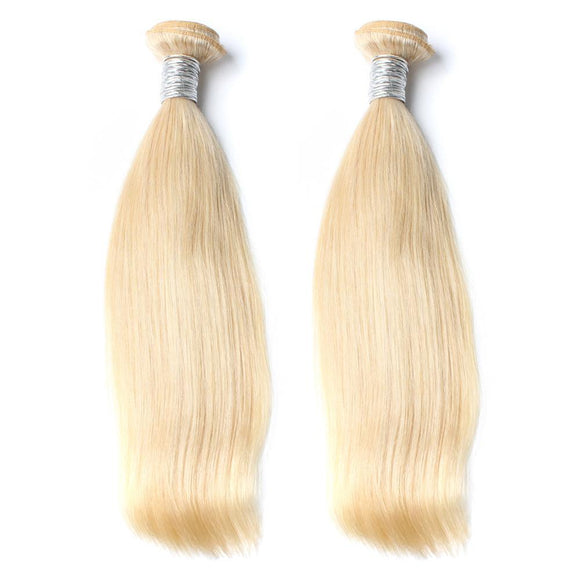 lot de 2 tissages bresiliens lisses blonde 613 silky straight hair naylisshairparis