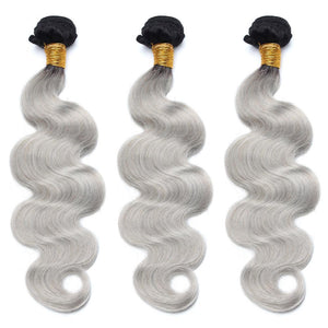 lot de 3 tissage bresilien ondule gris 1b body wave hair naylisshairparis