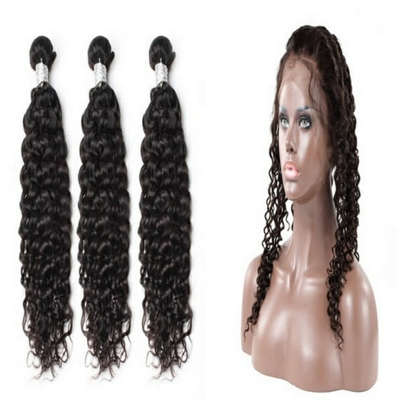 lot de 3 tissages bresiliens boucles 360 lace frontal black deep curly naylisshairparis-min
