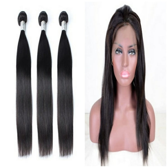 lot de 3 tissages bresiliens lisses 360 lace frontal black silky straight naylisshairparis-min