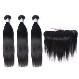 lot de 3 tissages bresiliens lisses lace frontal black silky straight hair naylisshairparis-min