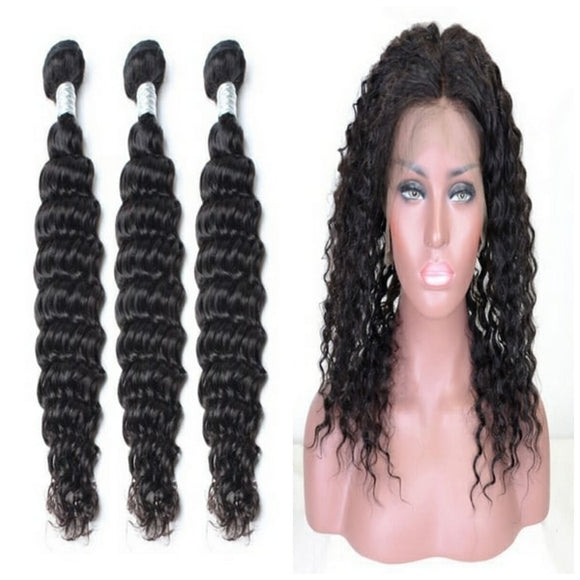 lot de 3 tissages bresiliens ondules 360 lace frontal black deep wave naylisshairparis-min