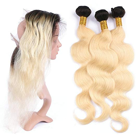 lot de 3 tissages bresiliens ondulés lace frontale blonde 1b 613 body wave naylisshairparis 1