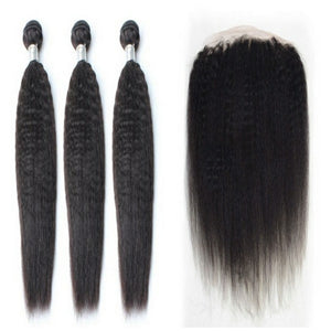 lot de 3 tissages bresiliens raide crepu lace frontal black kinky straight naylisshairparis-min