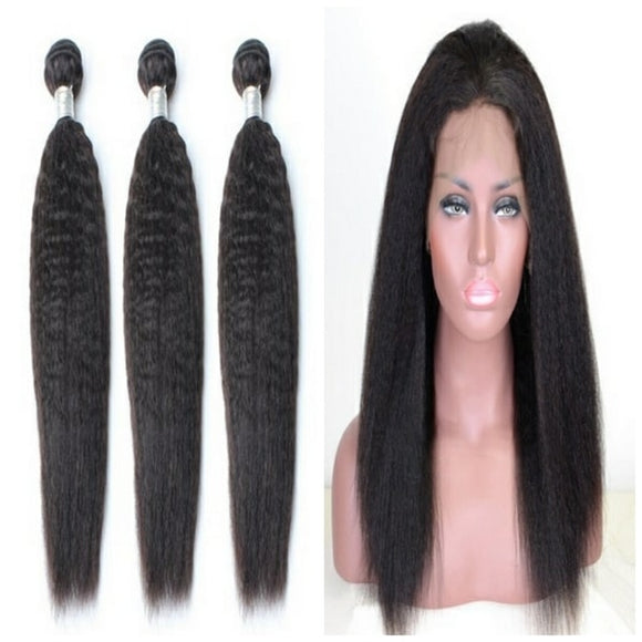 lot de 3 tissages bresiliens raides crepu 360 lace frontal black kinky straight naylisshairparis-min