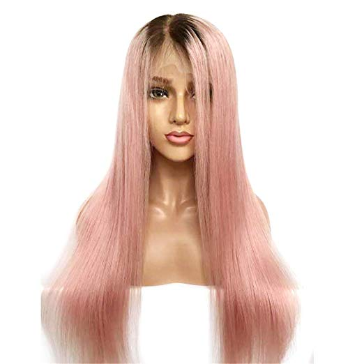 perruque naturelle lisse 1b rose silky straight naylisshairparis
