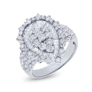 18k White Gold Diamond Lady's Ring - 2.80ct